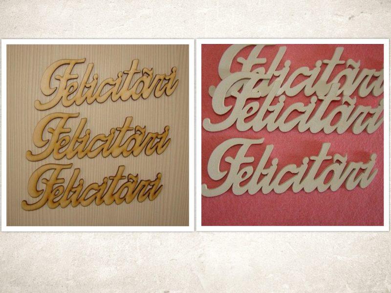 """Figurine din lemn """"Felicitari"""" 3buc"""