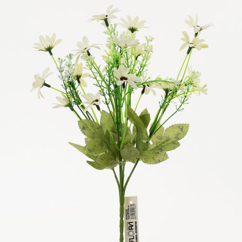 Buchet floricele albe 32 cm