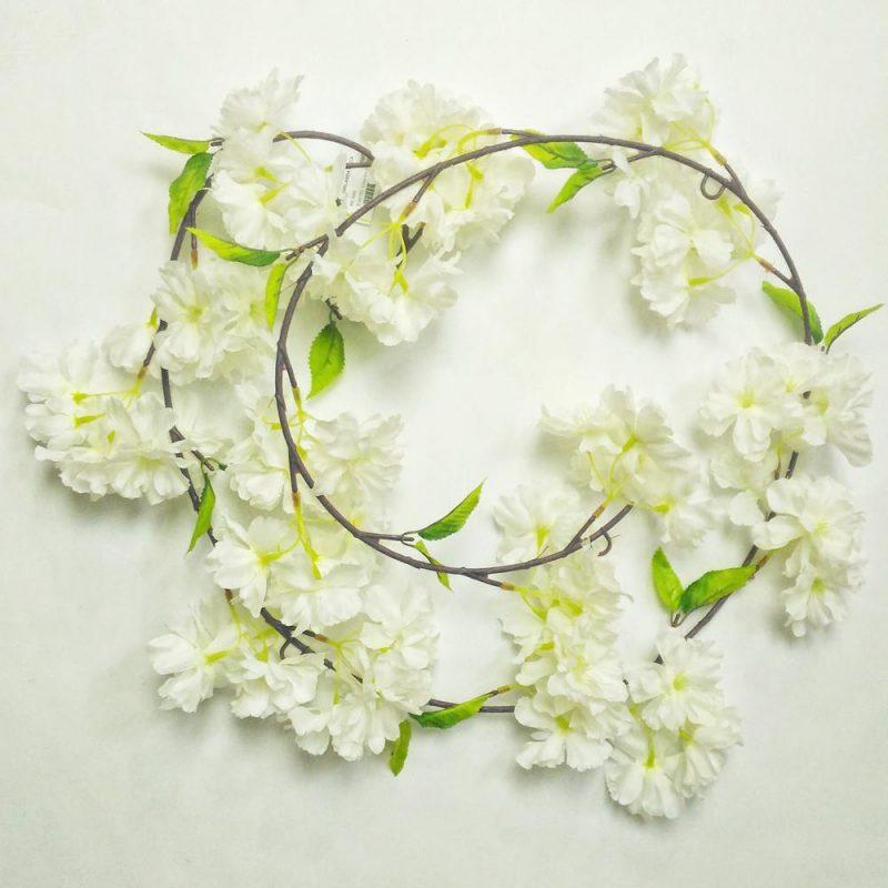 Ghirlanda flori albe 170 cm