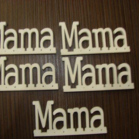 Figurine din lemn alb Mama 5 buc