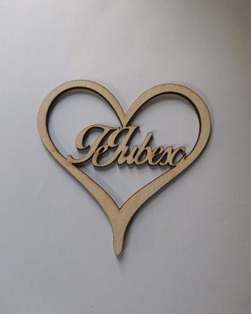 Figurine din lemn Te iubesc 1 buc