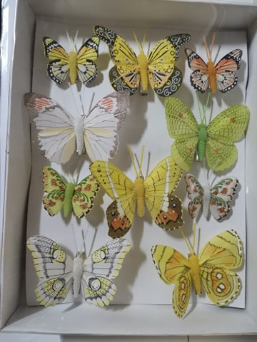 Fluturi cu cleme galbeni 5cm