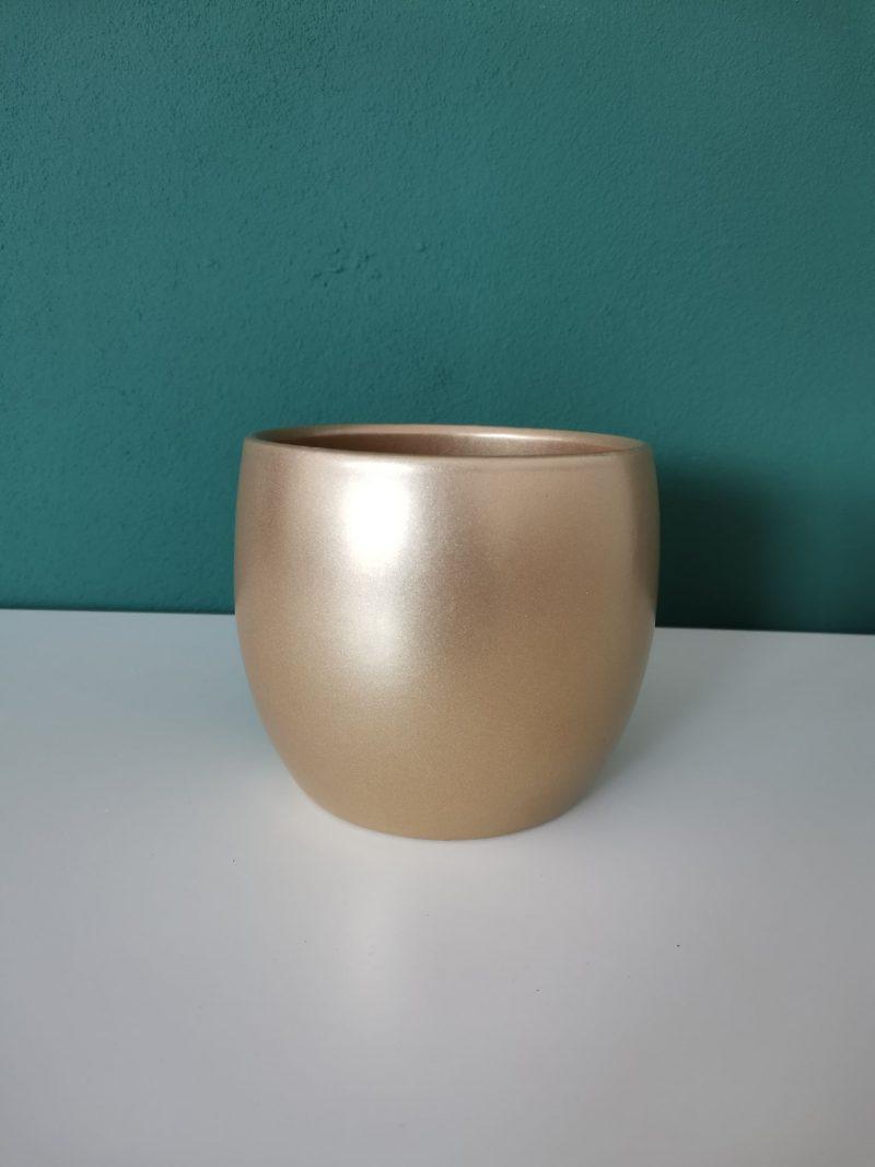Vas ceramica 13 cm auriu