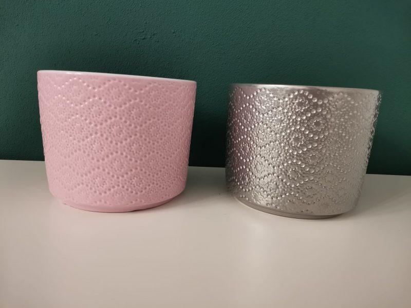 Vas ceramica cilindric 14 cm