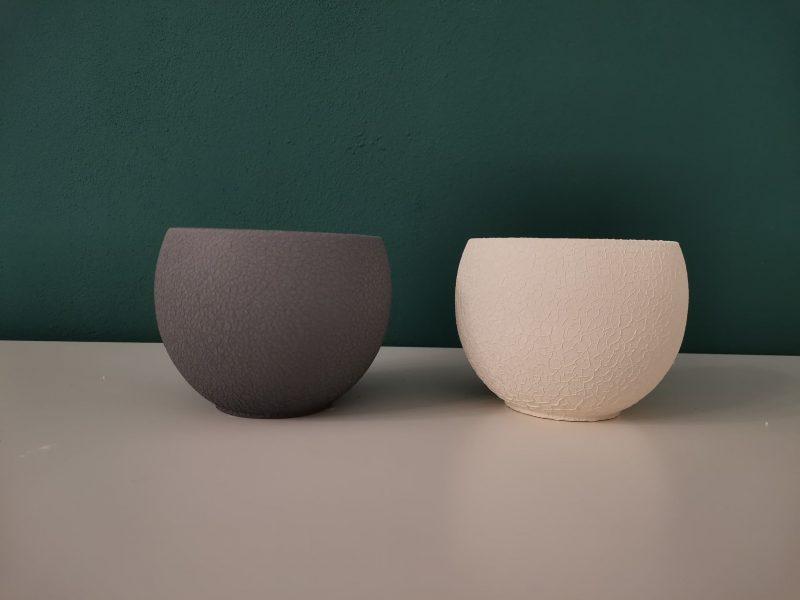 Vas ceramica cu aspect crapat 12 cm
