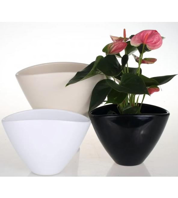 Vase ceramice cu forma asimetrica 12 cm