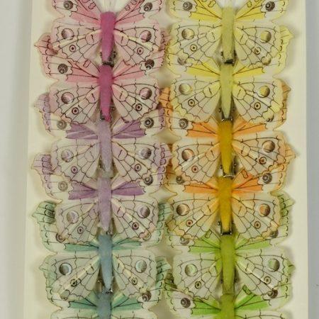 Fluturi cu cleme colorati 8 cm