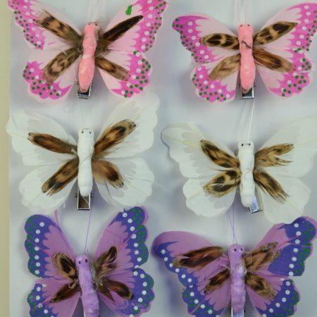 Fluturi cu cleme 8 cm