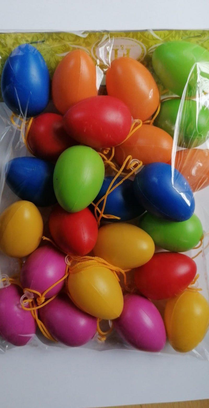 Set oua cu agatatoare multicolor