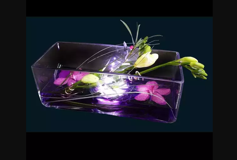 Vaza luminoasa dreptunghiulara 28.5 cm -