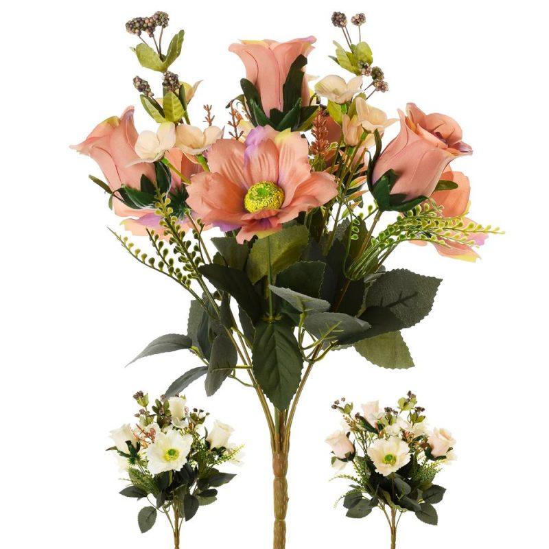 Buchet trandafiri si margarete 40 cm