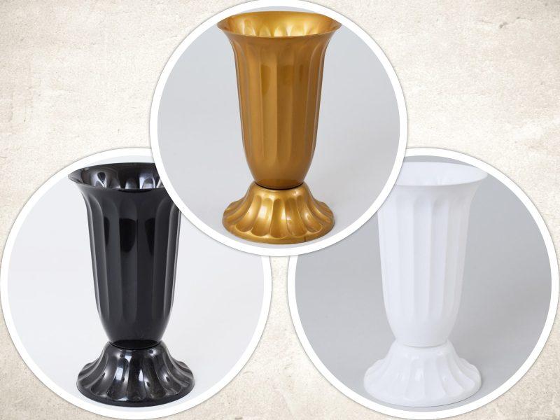 Vaza plastic cu picior 14