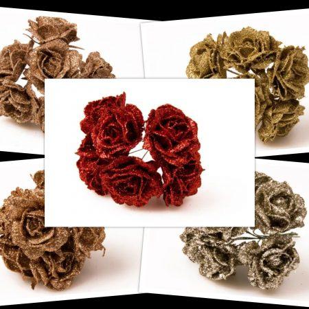 Pick trandafiri cu glitter