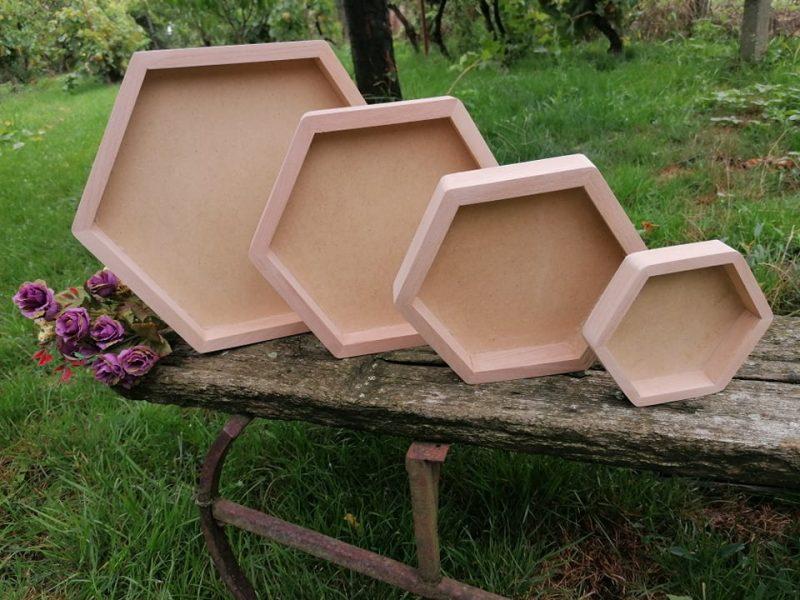 Set rame hexagon 4 buc -