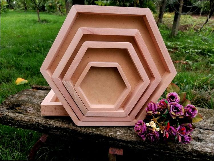 Set rame hexagon 4 buc
