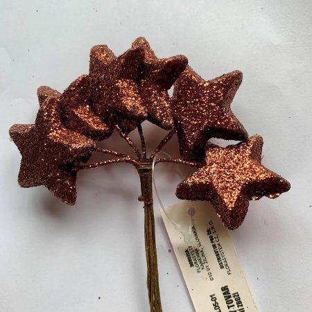 Pick mini-stelute cu glitter 3cm