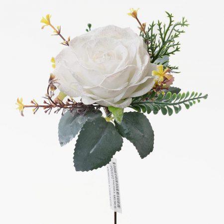 Trandafir la fir cu glitter 1 buc